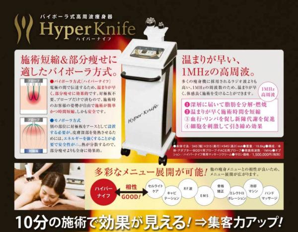 ハイパーナイフ HyperKnife ラジオ波 バイポーラ式高周波痩身機